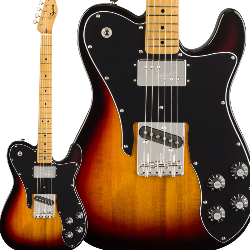 Squier by Fender Classic Vibe '70s Telecaster Custom Maple Fingerboard 3-Color Sunburst エレキギター テレキャスター 【スクワイヤー / スクワイア】