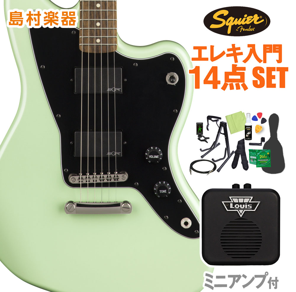 Squier by Fender Contemporary Active Jazzmaster HH ST, Surf Pearl 初心者14点セット 【ミニアンプ付き】 エレキギター ジャズマスター 【スクワイヤー / スクワイア】