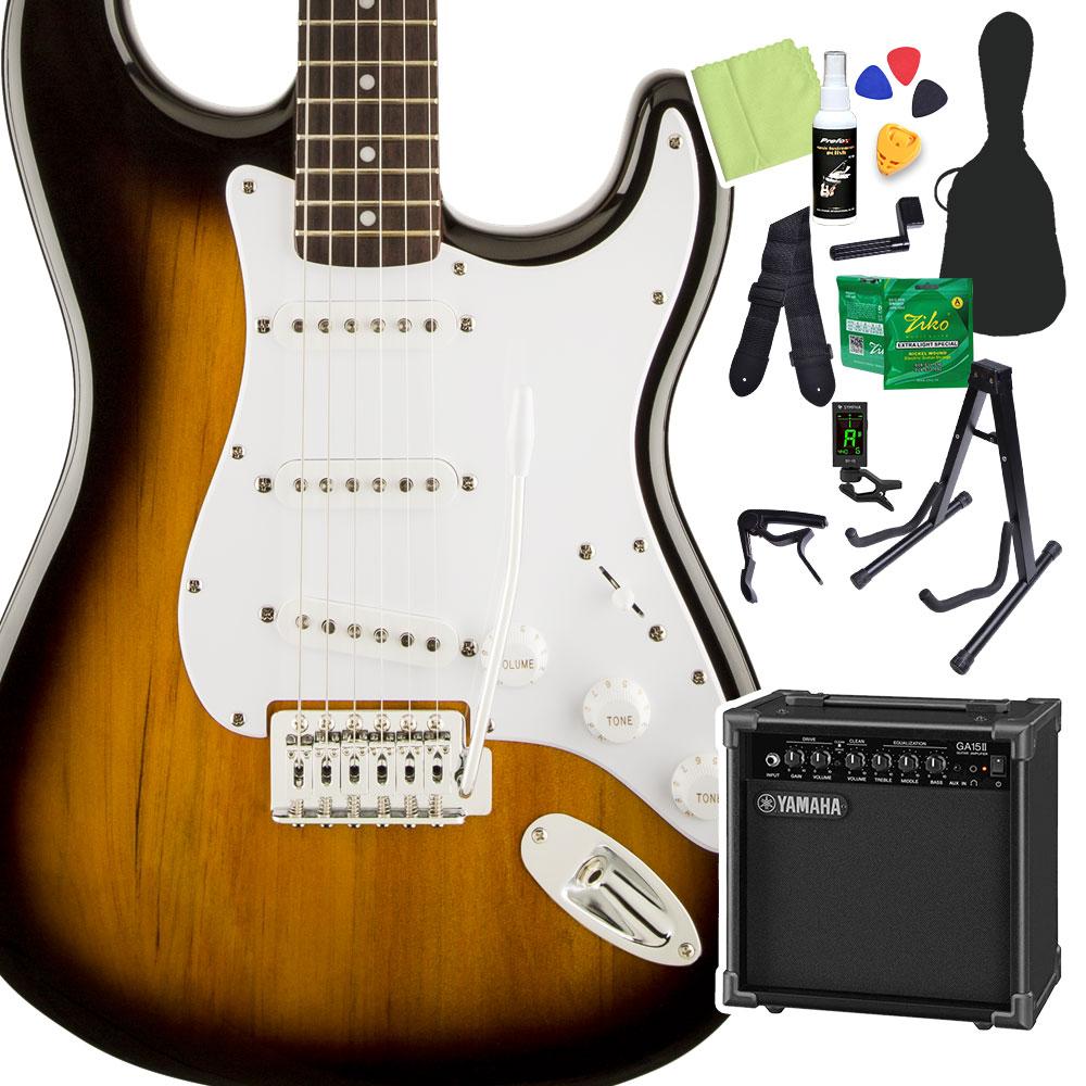 Squier/ by Fender Bullet Strat with Strat Tremolo, Tremolo, Brown Sunburst 初心者14点セット【ヤマハアンプ付き】 エレキギター ストラトキャスター【スクワイヤー/ スクワイア】, 押水町:9f32faf0 --- sunward.msk.ru