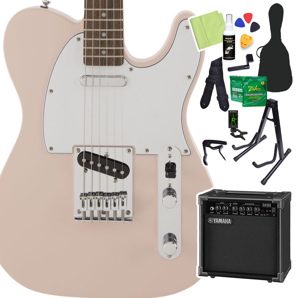 Squier by Pink Fender by FSR Affinity SeriesTelecaster Shell Shell Pink 初心者14点セット【ヤマハアンプ付き】 エレキギター ストラトキャスター【スクワイヤー/ スクワイア】, カモガワシ:5275e2e3 --- sunward.msk.ru