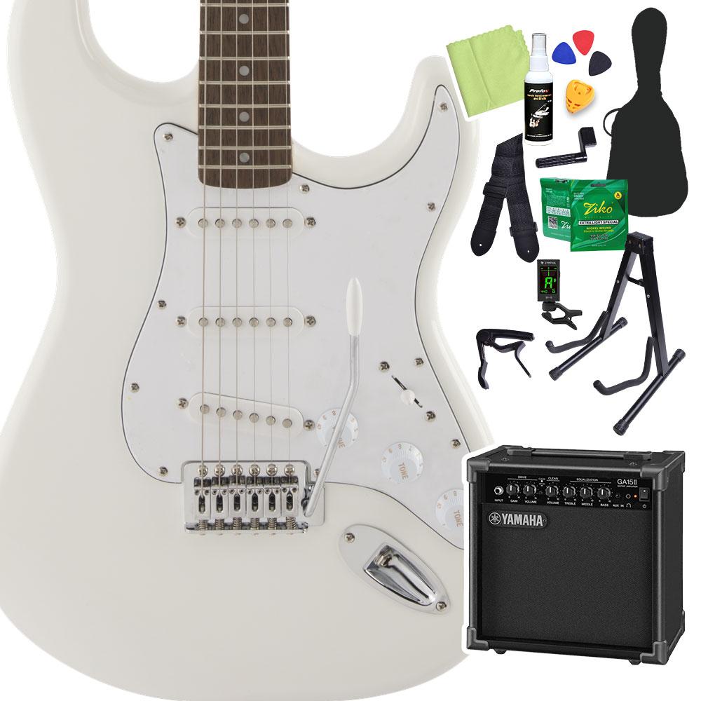 Squier by スクワイア】 Fender エレキギター FSR SeriesStratocaster Affinity SeriesStratocaster Olympic White 初心者14点セット【ヤマハアンプ付き】 エレキギター ストラトキャスター【スクワイヤー/ スクワイア】, アンジーソウル:359e54bc --- sunward.msk.ru