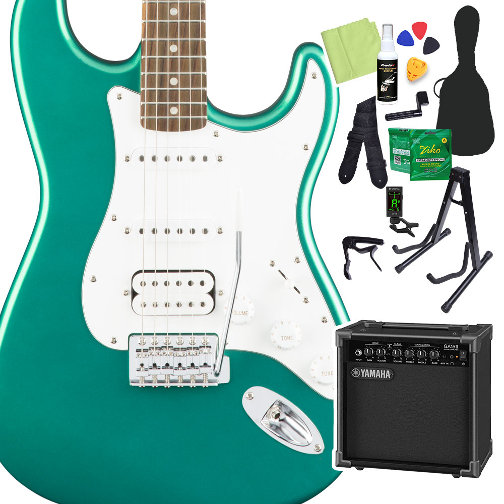 Squier Series by Fender Affinity Green Series by Stratocaster HSS, Race Green 初心者14点セット【ヤマハアンプ付き】 エレキギター ストラトキャスター【スクワイヤー/ スクワイア】, ツヤザキマチ:58c97b87 --- sunward.msk.ru