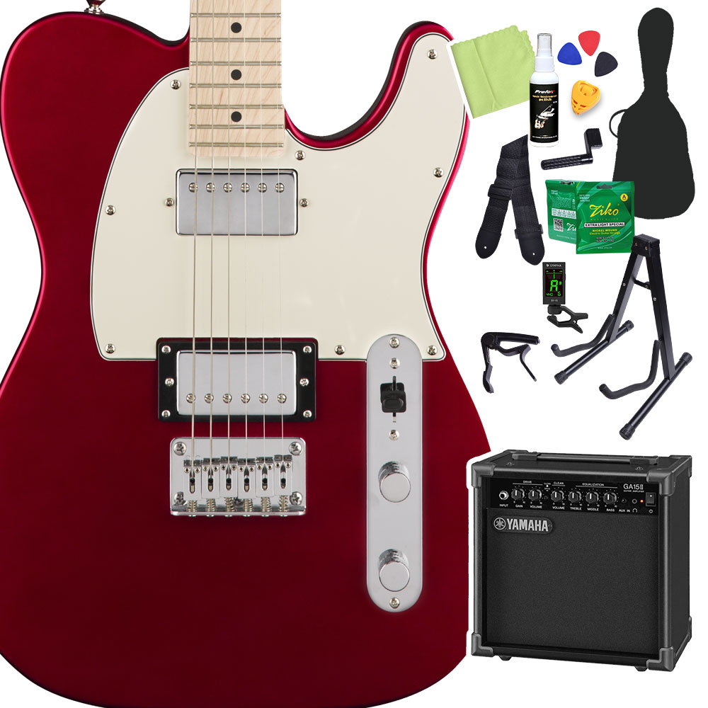 Squier by Fender/ Contemporary Fender Telecaster HH, スクワイア】 Dark Metallic Red 初心者14点セット【ヤマハアンプ付き】 エレキギター テレキャスター【スクワイヤー/ スクワイア】, 玉穂町:752748ec --- sunward.msk.ru