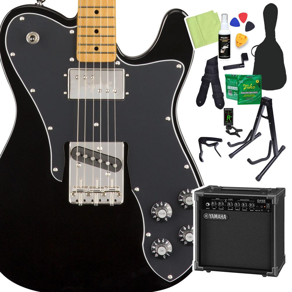 Squier by Fender Classic Vibe '70s Telecaster Custom, Black 初心者14点セット 【ヤマハアンプ付き】 エレキギター テレキャスター 【スクワイヤー / スクワイア】