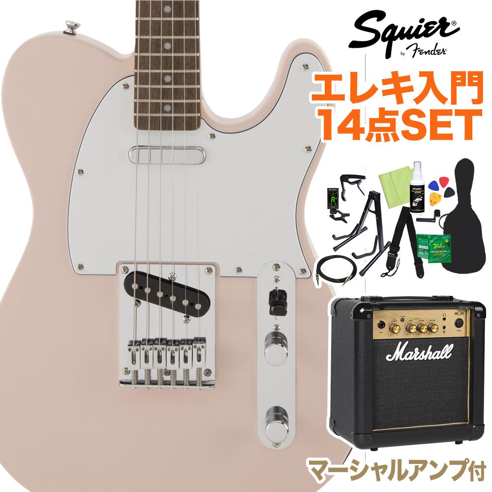 Squier by Fender FSR Affinity エレキギター Fender Affinity SeriesTelecaster Shell Pink 初心者14点セット【マーシャルアンプ付き】 エレキギター ストラトキャスター【スクワイヤー/ スクワイア】, 辻川スポーツ:dbf03890 --- sunward.msk.ru