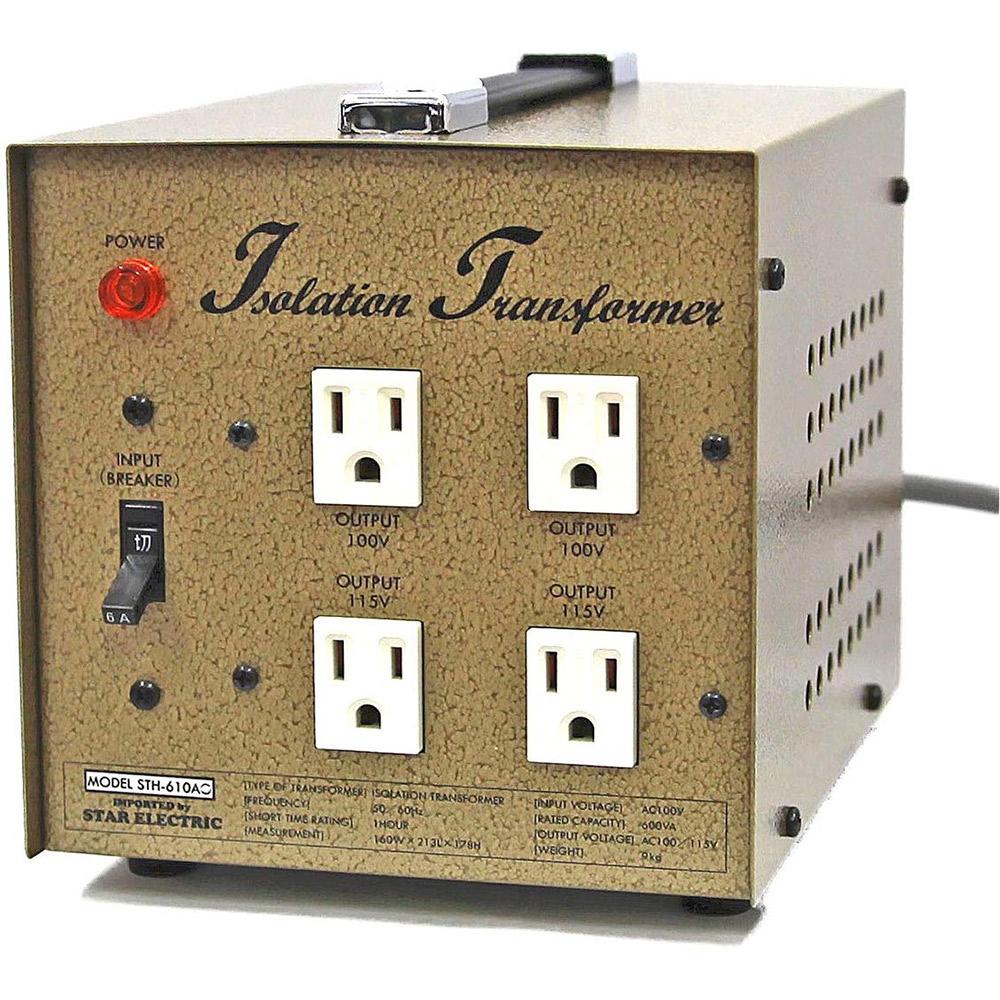 PRO CABLE ギタリスト電源 アイソレーション電源トランス (ゴールド) 600W 100V専用仕様 【プロケーブル BTR600-100-GL】