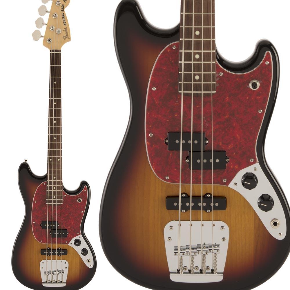 Fender Made in Japan Hybrid Mustang Bass Rosewood Fingerboard 3-Color Sunburst ムスタング ベース 【フェンダー】