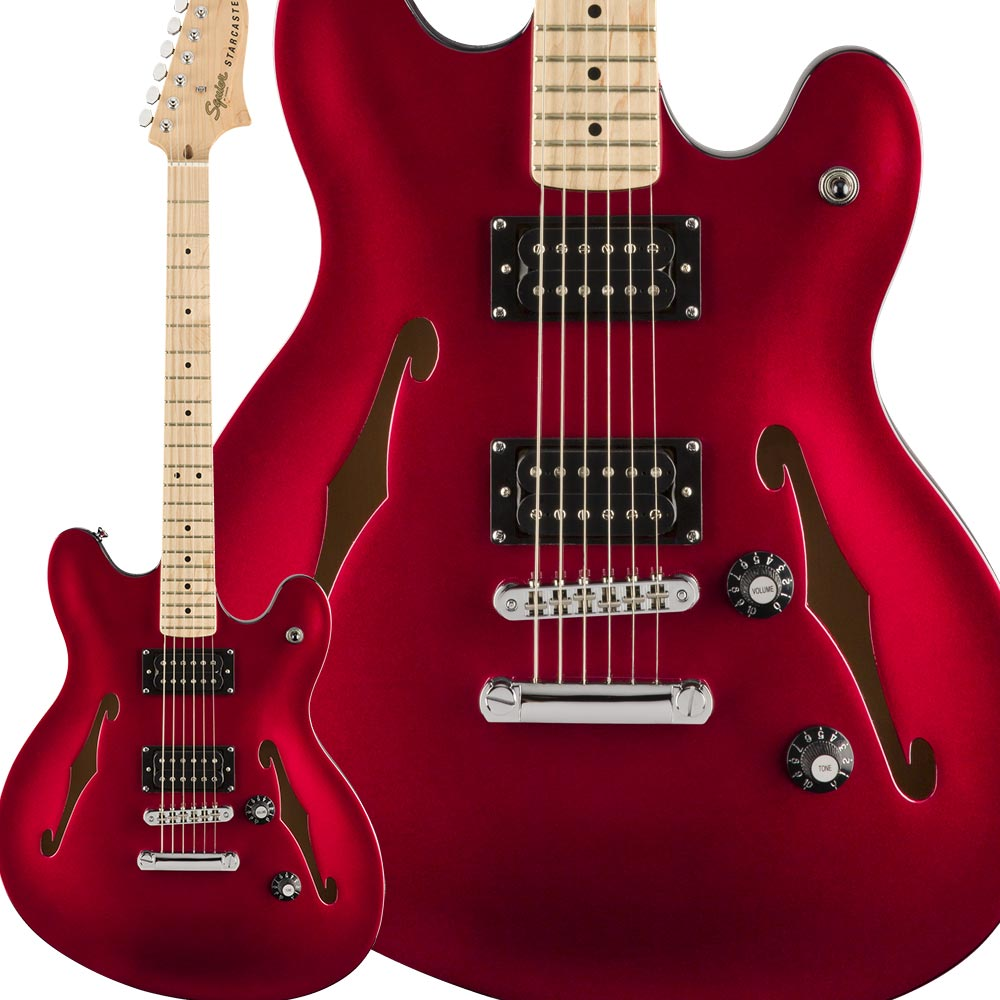 Squier by Fender Affinity Series Starcaster Maple Fingerboard Candy Apple Red スターキャスター 【スクワイヤー / スクワイア】