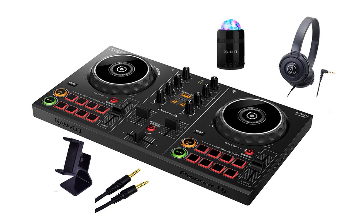 Pioneer DJ DDJ-200 充電式ミニスピーカー、スマホスタンド、ヘッドホンセット 【パイオニア】