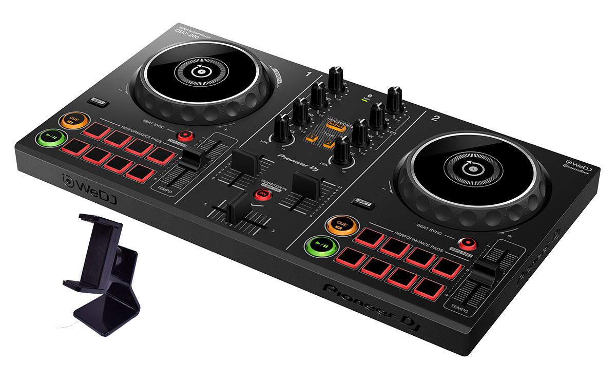 【数量限定 スマホスタンド付き】 Pioneer DJ DDJ-200 スマホスタンド付属 【パイオニア スマートDJコントローラー】