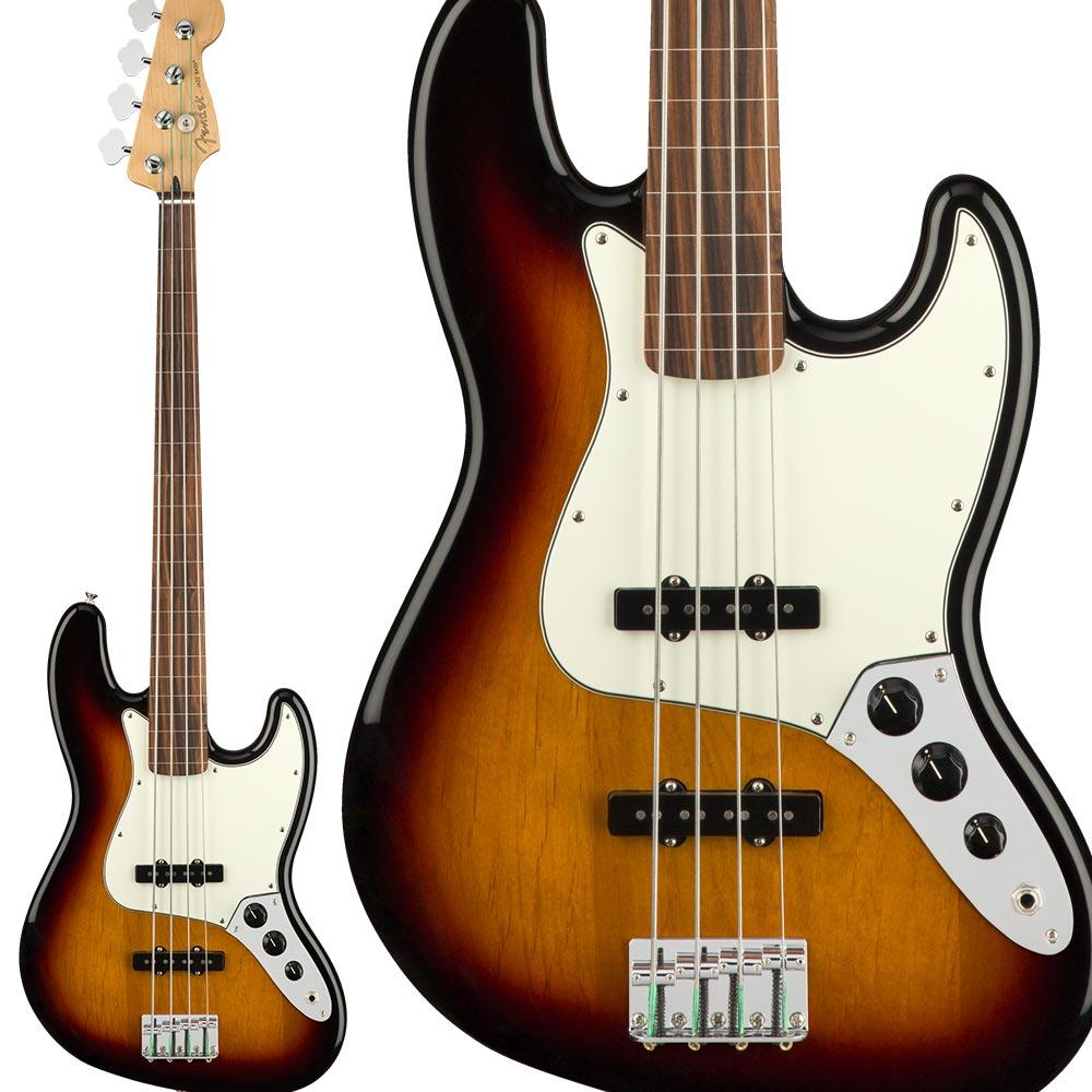 Fender Player Jazz Bass Fretless, Pau Ferro Fingerboard, 3-Color Sunburst ジャズベース フレットレス 【フェンダー】