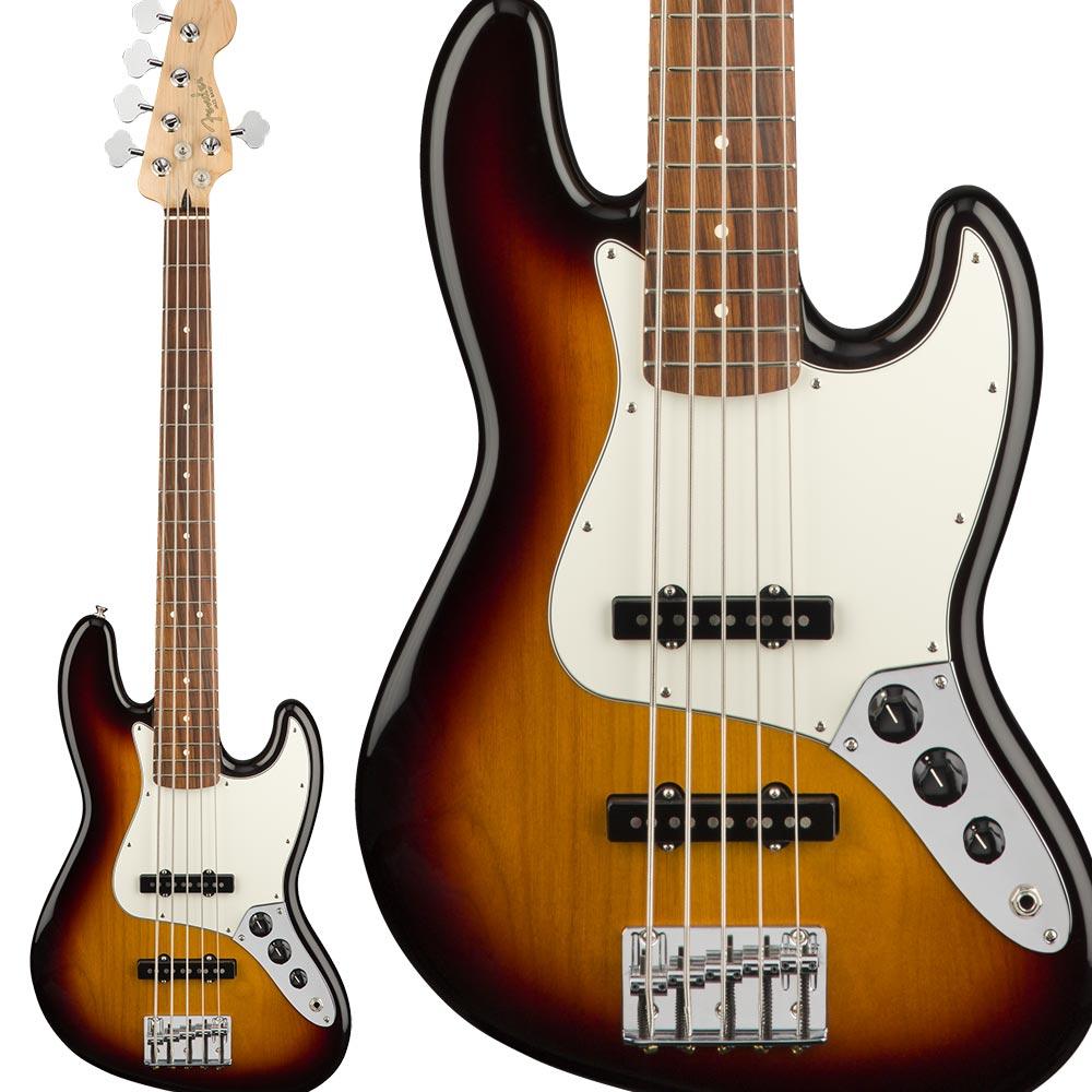 Fender Player Jazz Bass V, Pau Ferro Fingerboard, 3-Color Sunburst ジャズベース 【フェンダー】