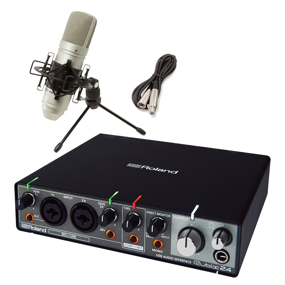 Roland rubix24 TM-80高音質配信・録音セット TASCAMコンデンサーマイク一式付属 動画配信 【ローランド】