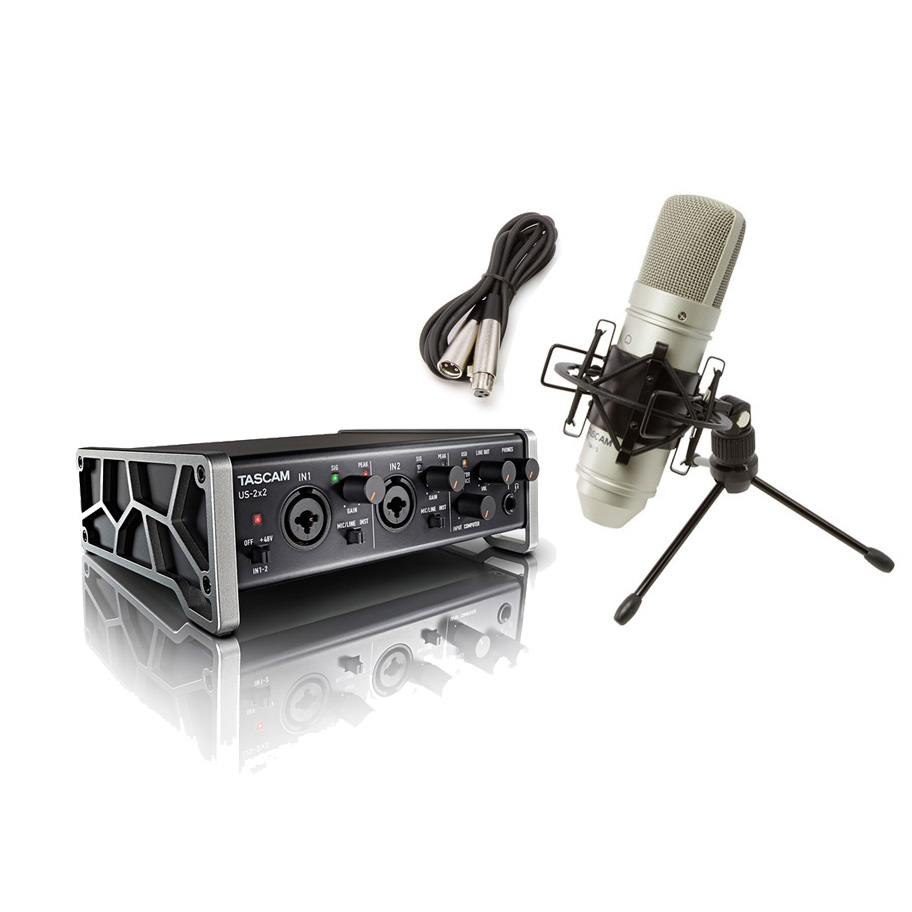 TASCAM US-2×2-CU 配信・録音セット TM-80 TASCAMコンデンサーマイク一式付属 動画配信 【タスカム】