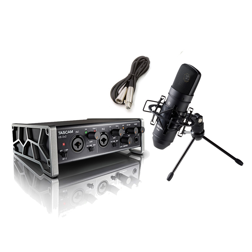 TASCAM US-2×2-CU 配信・録音セット TM-80(B) TASCAMコンデンサーマイク一式付属 動画配信 【タスカム】