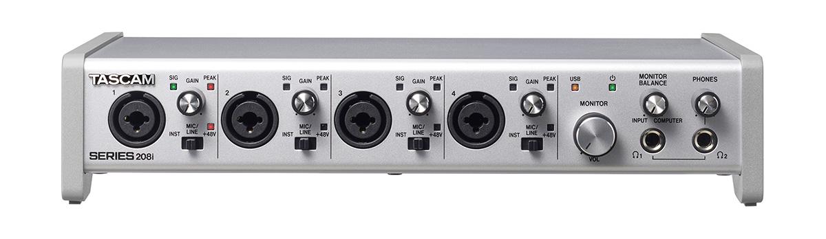 TASCAM SERIES 208i USB オーディオインターフェイス MIDIインターフェイス 【タスカム】