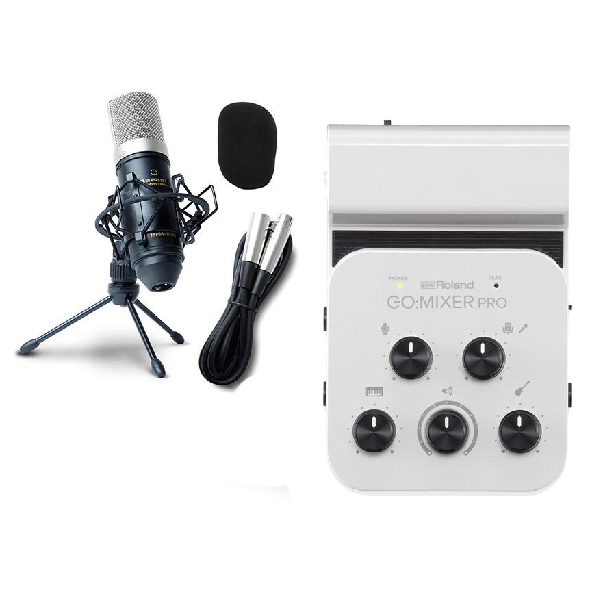 Roland GO:MIXER PRO 高音質配信・録音セット スマホ用オーディオインターフェース 動画配信 【ローランド】