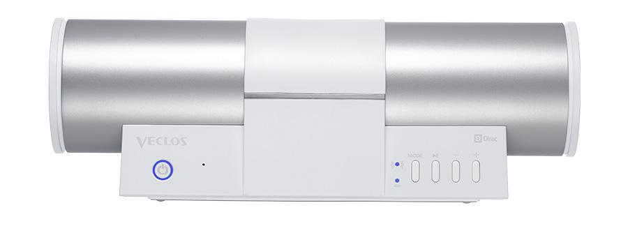VECLOS SPW-500WP WH ワイヤレス・ポータブル真空エンクロージャースピーカー 【ヴェクロス】