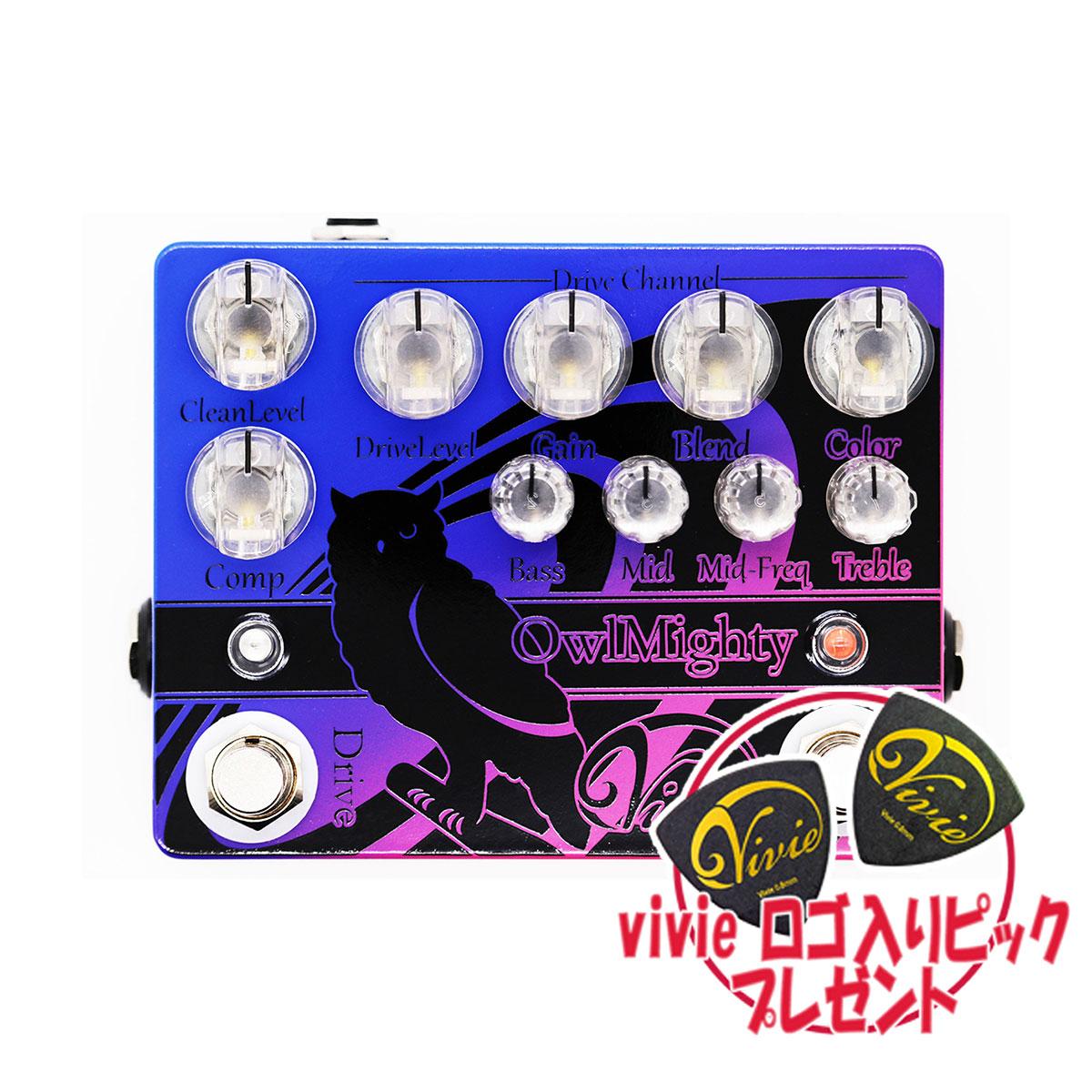【8/31迄 アダプタープレゼント】 Vivie Owl Mighty ベースプリアンプ 【ヴィヴィ】