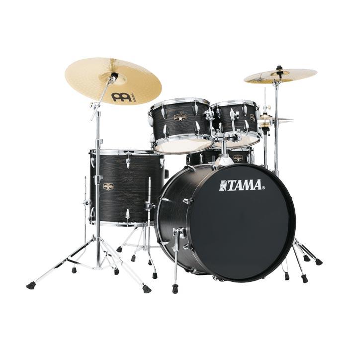 TAMA IMPERIALSTAR IE58H6HC BOW ドラムセット シンバル付 【バスドラム18インチ仕様】 【タマ インペリアルスター ブラックオークラップ】