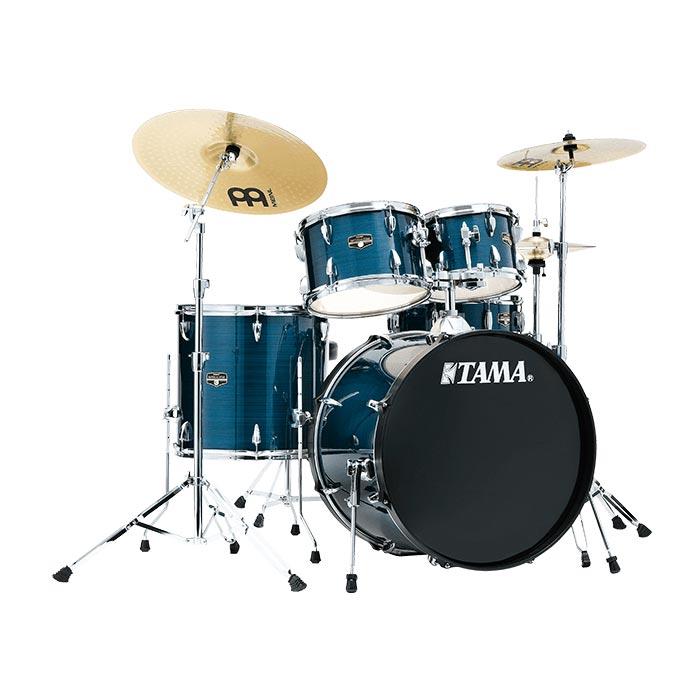 TAMA IMPERIALSTAR IE58H6HC HLB ドラムセット シンバル付 【バスドラム18インチ仕様】 【タマ インペリアルスター ヘアラインブルー】