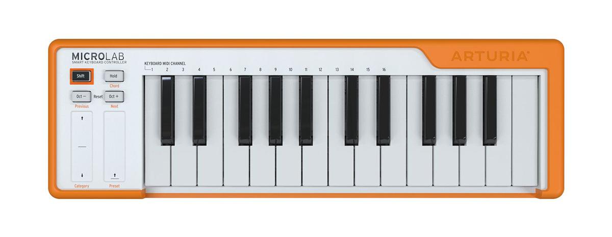 ARTURIA MICROLAB (オレンジ) 25鍵盤 ベロシティー対応 MIDIキーボード 【アートリア】