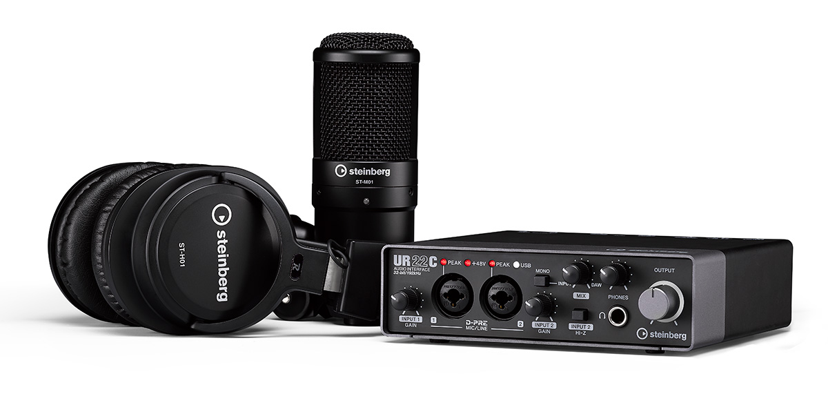 steinberg UR22C Recording Pack マイク ヘッドホンセット USBタイプC 搭載 【スタインバーグ】