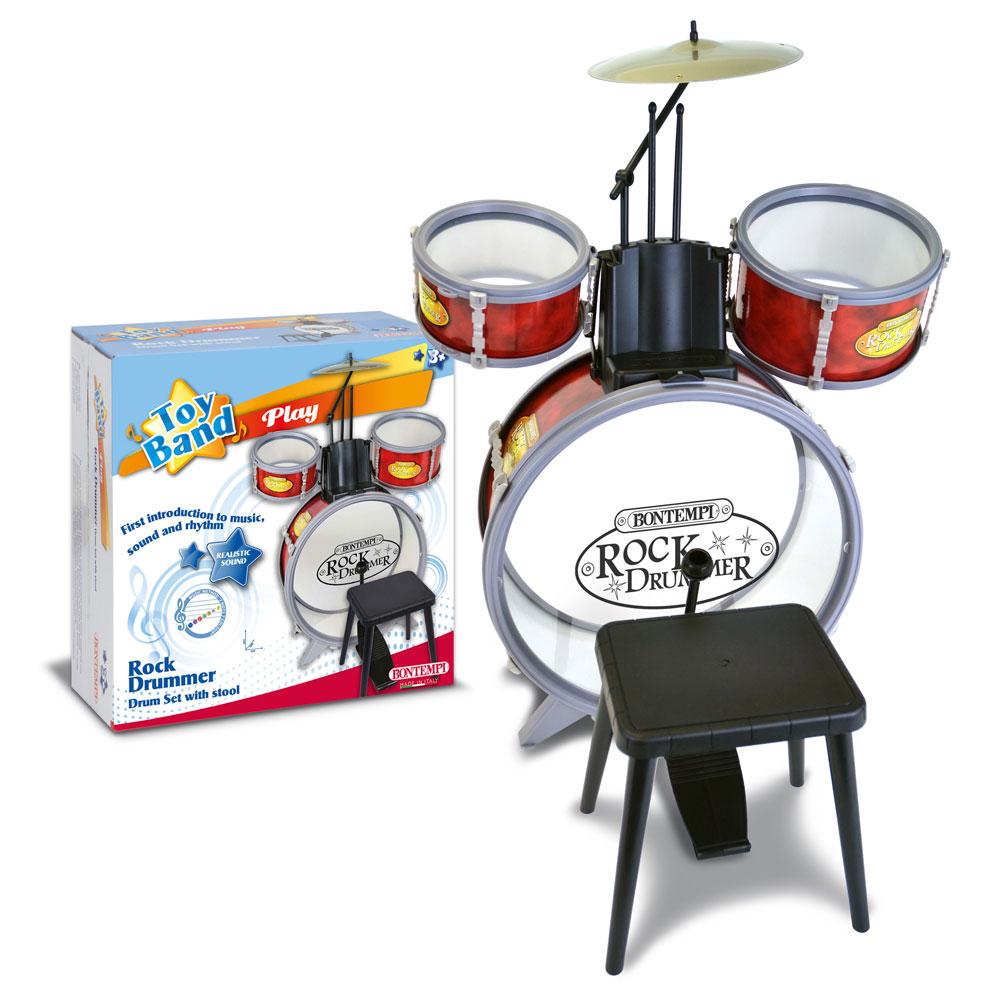 BONTEMPI おもちゃのドラム ロックドラム 【ボンテンピ キッズ 子供 プレゼント 楽器】