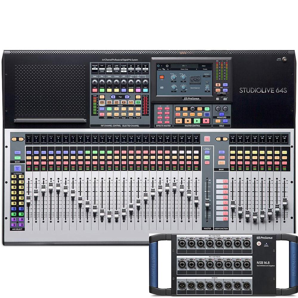 [限定価格 2019/12/31迄] PreSonus StudioLive64S+NSB 発売記念特別バンドル 【プレソナス】