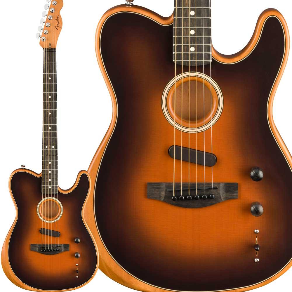 Fender American Acoustasonic Telecaster Ebony Fingerboard Sunburst エレアコギター 【フェンダー】