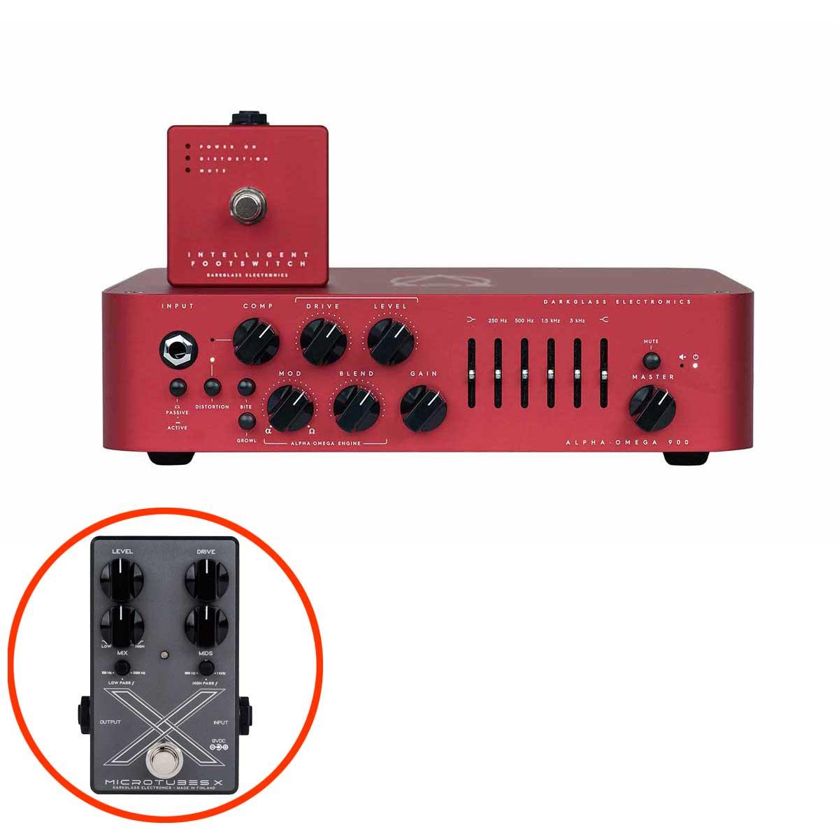 """【数量限定 Microtubes Xプレゼント】 Darkglass Electronics Alpha・Omega 900 Limited Edition """"RED"""" ベース用プリアンプ 【ダークグラスエレクトロニクス】【数量限定品】"""