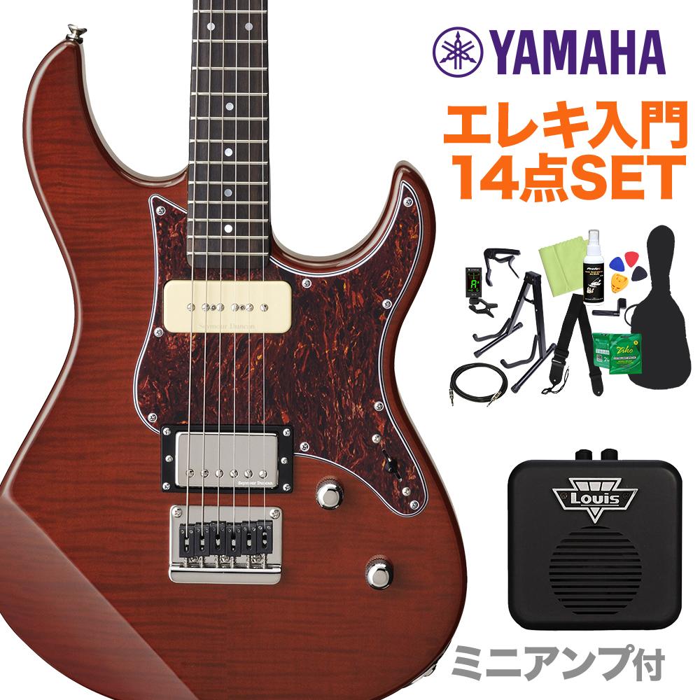 YAMAHA PACIFICA611HFM RTB エレキギター初心者14点セット 【ミニアンプ付き】 ルートビア 【ヤマハ パシフィカ】