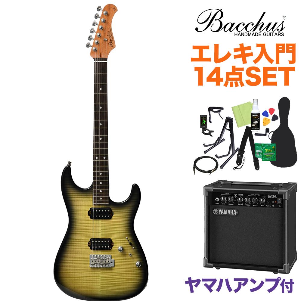 Bacchus G-STUDIO FM-HH/R LGR-B エレキギター初心者14点セット 【ヤマハアンプ付き】 ライトグリーンバースト 【バッカス】【オンラインストア限定】