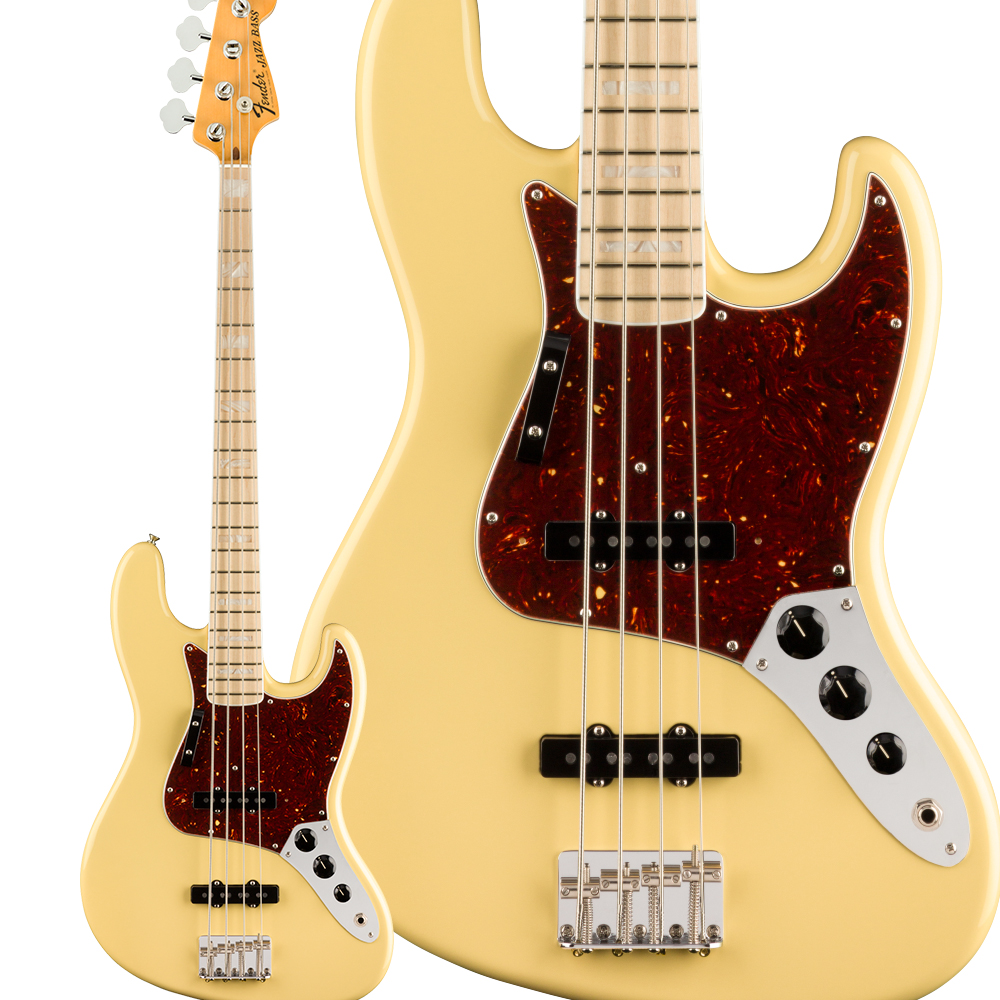Fender American Original '70s Jazz Bass Maple Fingerboard Vintage White エレキベース ジャズベース 【American Originalシリーズ】 【フェンダー】
