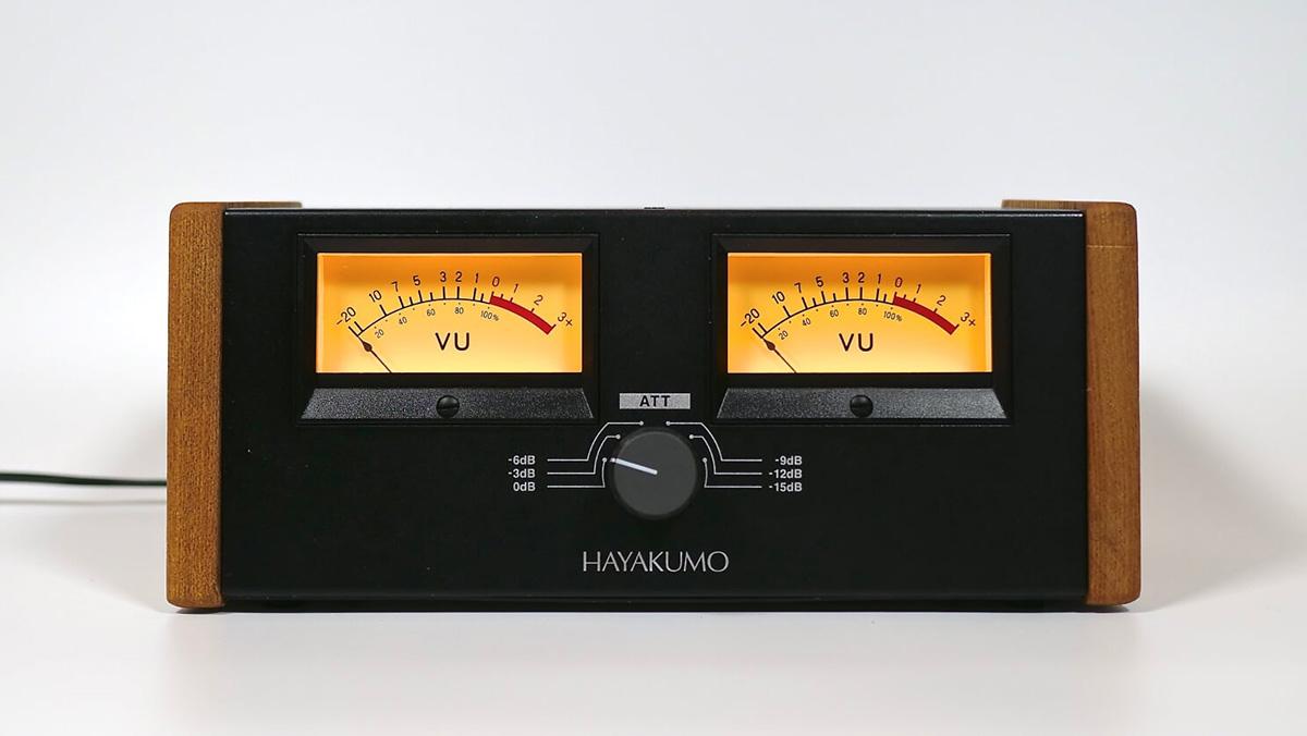 HAYAKUMO FORENO STEREO VU METER アッテネーター付き ハイスペック・VUメーター・システム 【ハヤクモ 日本製】