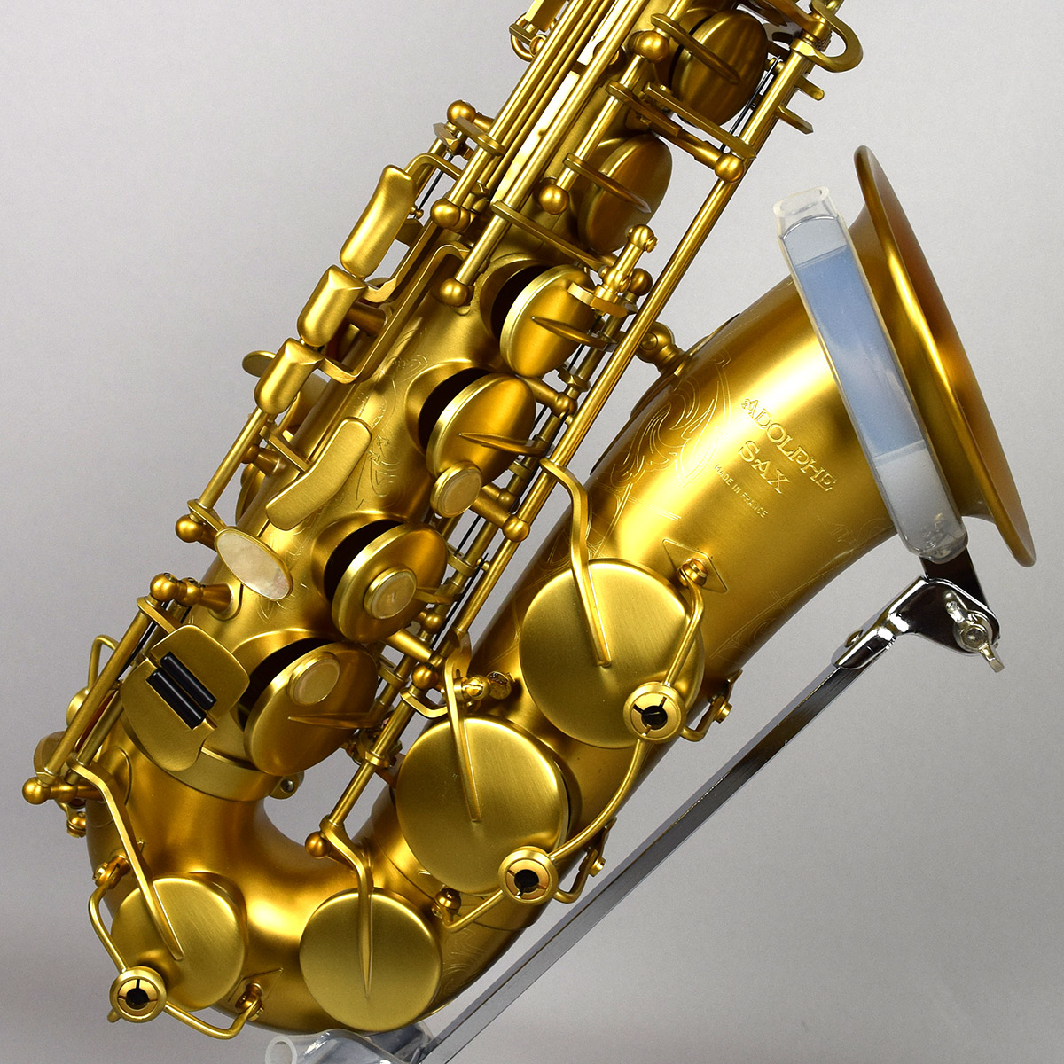 Adolphe Sax Alto Saxophone Limited Brushed Gold Satin W/Case #815275 【アドルフサックス アルト】【世界150本限定/未展示新品】