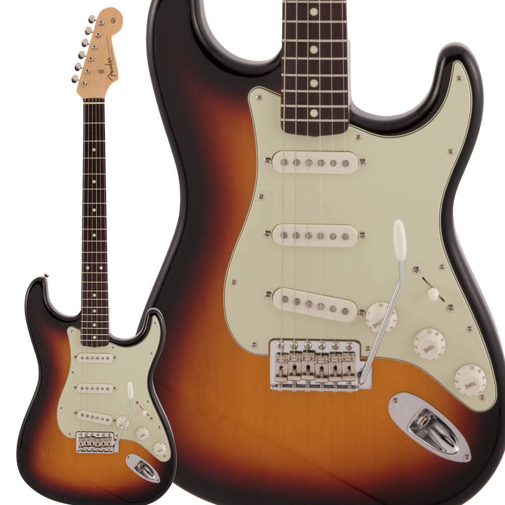 Fender Made in Japan Traditional 60s Stratocaster Left-Handed Rosewood Fingerboard 3-Color Sunburst エレキギター ストラトキャスター 【フェンダー】