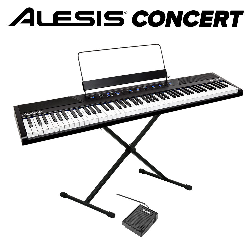 ALESIS Concert スタンドセット 電子ピアノ フルサイズ・セミウェイト88鍵盤 【アレシス コンサート】