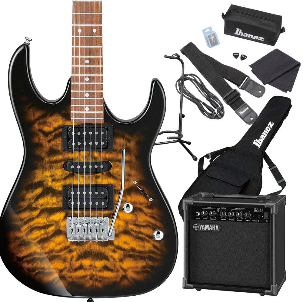 Gio Ibanez GRX70QA SB (Sunburst) エレキギター 初心者セット ヤマハアンプ付き 【ジオ アイバニーズ】