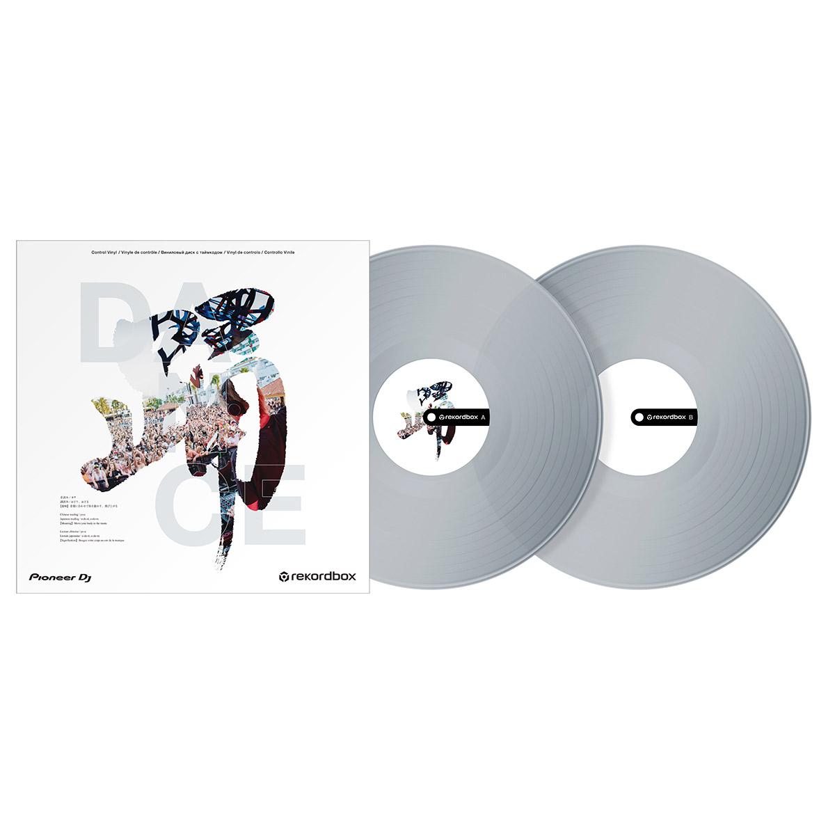 Pioneer DJ rekordbox専用 Control Vinyl クリア 人気ブレゼント DANCE コントロールバイナル 定番から日本未入荷 2枚セット パイオニア 踊 レコードボックス RB-VD2-CL