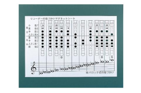 全音 ZRM-3B リコーダーの指づかいマグネットシート (全音階+派生音) 【ゼンオン】