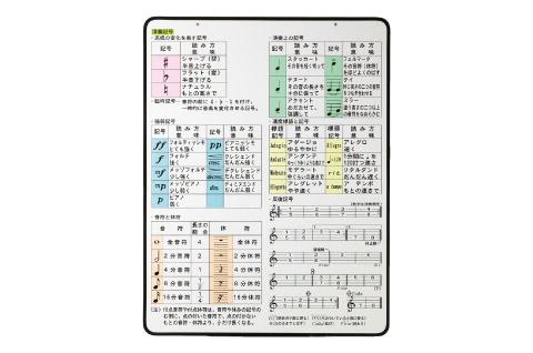 全音 ZDB-20 演奏記号 ディスプレイボード 【ゼンオン】