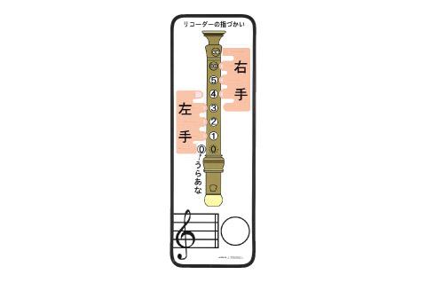 全音 ZCB-40 リコーダー指づかいカラーボード 【ゼンオン】