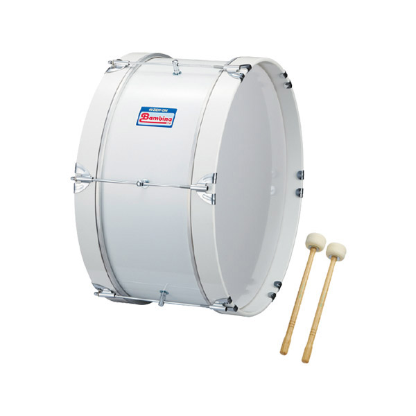 Bambina PG-1NW ピュアホワイト バスドラム PGシリーズ 18インチ×8インチ マーチング・パレード用 【バンビーナ】