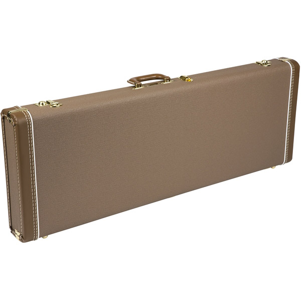 Fender MULTI-FIT HARDSHELL CASES- JAGUAR/JAZZMASTER Brown with Gold Plush Interior ハードケース ジャガー・ジャズマスター用 【フェンダー】
