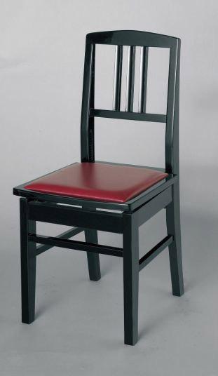 イトマサ No.5 黒 ピアノ背付高低椅子