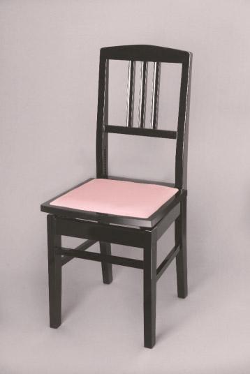イトマサ No.5S 黒(サクラレザー) ピアノ背付椅子