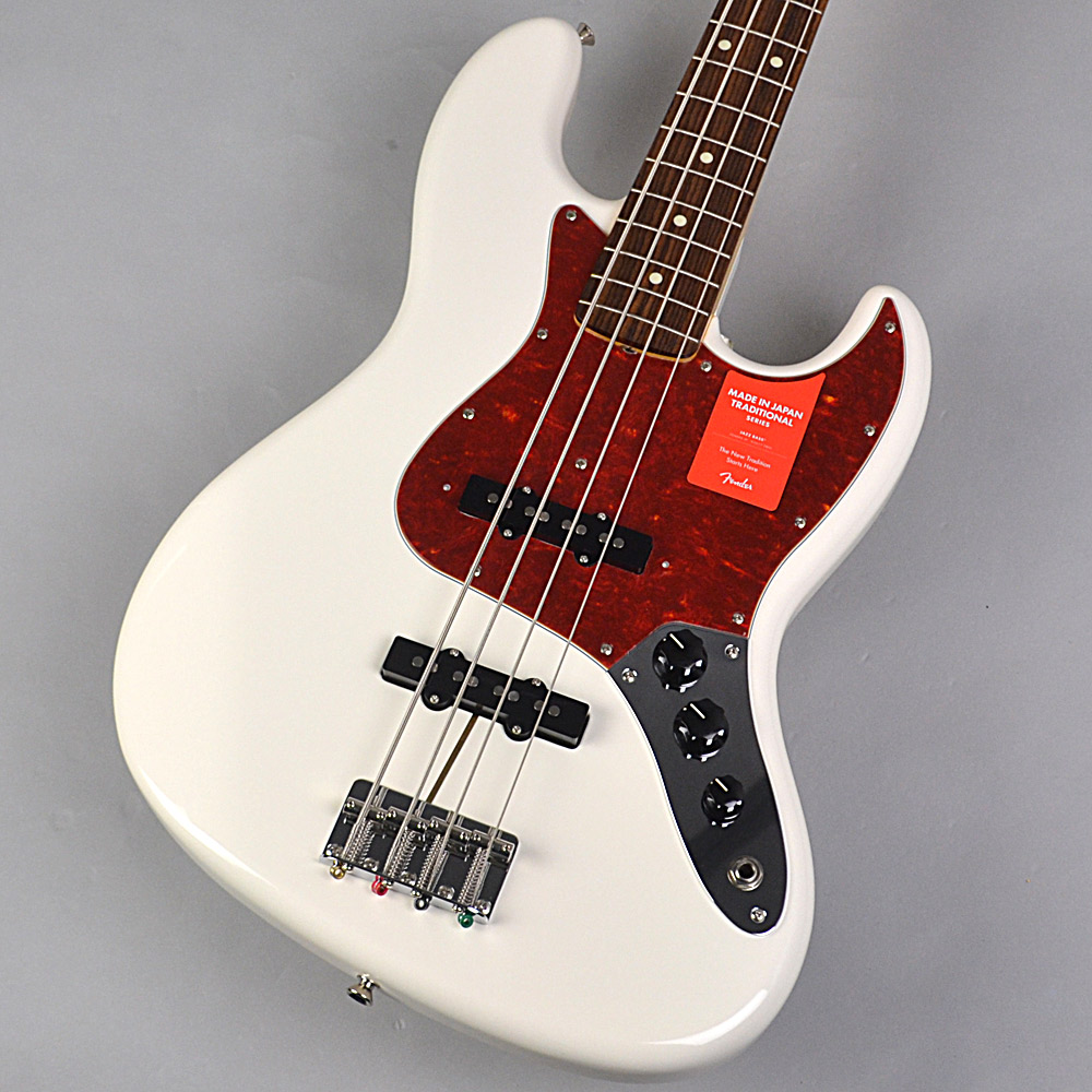 Fender Made in Japan Traditional 60s Jazz Bass Arctic White 【フェンダー】【未展示品・専任担当者による調整済み】