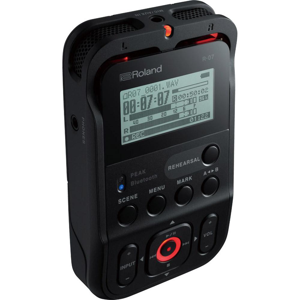 Roland R-07 (ブラック) High Resolution Audio Recorder ハンディ レコーダー ハイレゾ対応 【ローランド】【新宿PePe店】