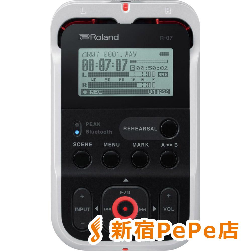 Roland R-07 (ホワイト) High Resolution Audio Recorder ハンディ レコーダー ハイレゾ対応 【ローランド】【新宿PePe店】
